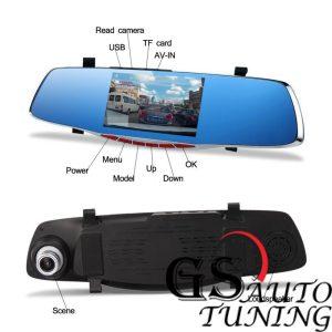 Видеорегистратор 1080 FULL HD с 5 LCD дисплей- камера за задно виждане и G-Sensor-gs-autotuning