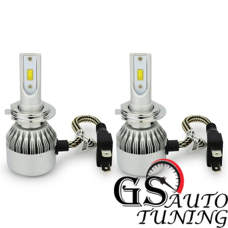 Диодни крушки - Led система Н7 за къси или дълги светлини - 7600 Лумена 36W - 3000K