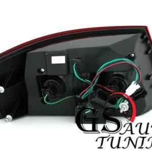 Диодни стопове за AUDI A6 4F седан 2004-2008 опушени-gs-autotuning