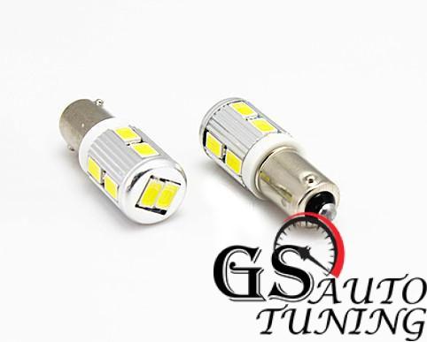 Диодни LED крушки за 24V тип BA9S 5W с 10 SMD диода