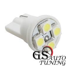Диодни LED крушки тип Т10 с 4 SMD диода