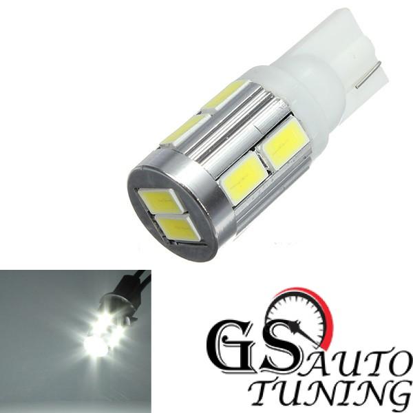 Диодни LED крушки тип Т10 5W с10 SMD 5630 диода - подходящи за дневни светлини Бял