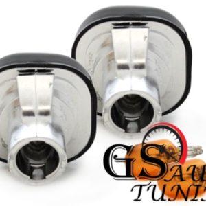 Кристални мигачи за AUDI A3 и AUDI A4 - черен хром-gs-autotuning.com