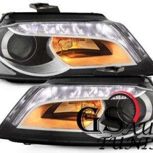 Кристални фарове за Ауди А3 2008-2012 черни-gs