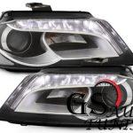 Кристални фарове за Ауди А3 2008-2012 черни-gs-autotuning