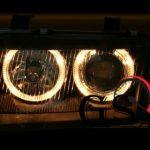 Кристални фарове за AUDI А4 Angel Eyes 1995-1998 – черни-gs-autotuning