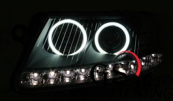Кристални фарове за AUDI А6 Dayline 2004-2007 - хром-gs-autotuning