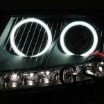 Кристални фарове за AUDI А6 Dayline 2004-2007 черни-gs-autotuning
