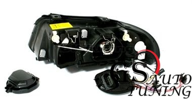 Кристални фарове AUDI A4 1999-2001 - черни-gs-autotuning.com