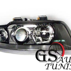 Кристални фарове AUDI A4 B6 2001-2004 - черни-gs-autotuning