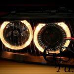 Кристални фарове Angel Eyes AUDI А3 2000-2003 черни-gs-autotuning