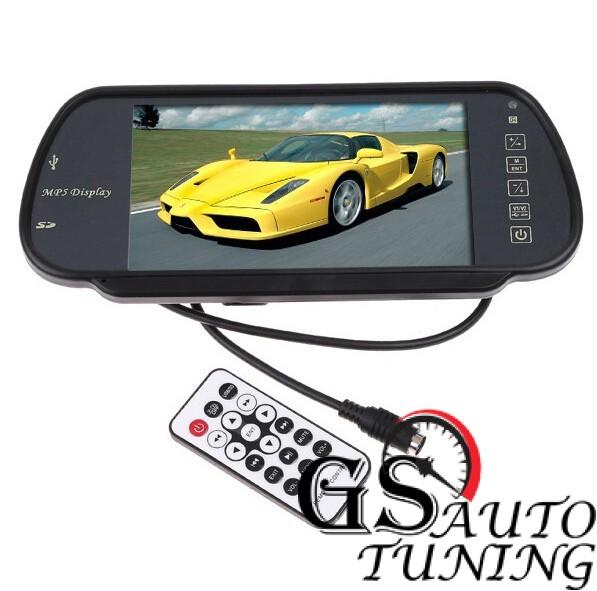 Огледало с цветен 7 LCD дисплей с USB вход и Bluetooth