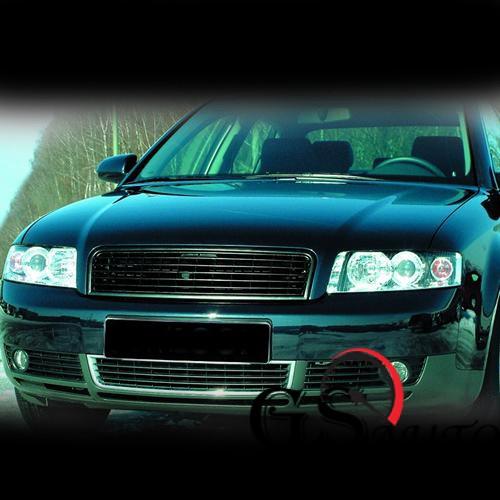 Решетка без емблема за AUDI А4 B6 2001-2004 - черна-gs-autotuning.com