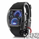 Спортен Часовник – RPM Turbo Дизайн – черен с ултра модерен дизайн, имитиращ плазмено табло на най-съвременни автомобили